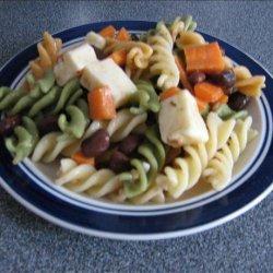 Zesty Italian Pasta Bean Salad recipe