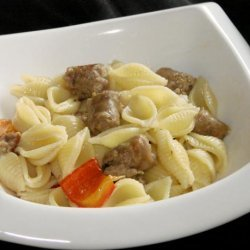 Bow Ties With Sausage and Peppers recipe