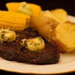 Marinated Steaks With a Tangy Butter recipe
