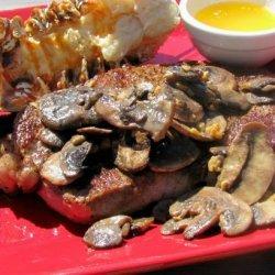 Garlic Mushroom Rib Eyes recipe