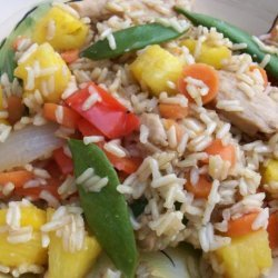 Loaded up Sweet & Sour Chicken With Brown Rice (Lite-Bleu) recipe