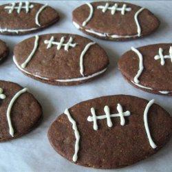 Fabulous Filbert Football Cookies Aka Super Bowl Cookies recipe