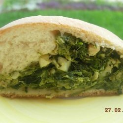 Spinach & Artichoke Stuffed Rolled Bread recipe