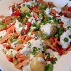 Salmon and Potato Salad With Lemon Poppy Seed Dressing recipe