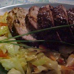 Asian Pork Tenderloin With Spicy Asian Cole Slaw recipe