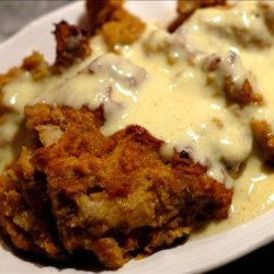 Pumpkin Bread Pudding with Cinnamon Sauce recipe
