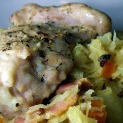 Braised Chicken Thighs With Sauerkraut recipe