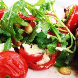 Goats Cheese Salad With Tomatoes, Peppers and Rocket recipe