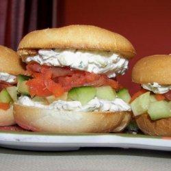 Mini Club Sandwiches With Salmon Carpaccio and Maple recipe