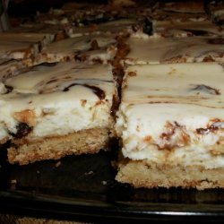 Nutella Swirl Sugar Cookie Cheesecake Squares recipe