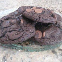 Triple Chocolate Cake Mix Cookies recipe