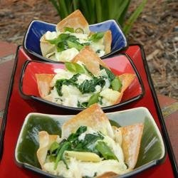 Spinach, Artichoke and Crab Wontons recipe