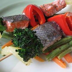 Gingery Fish Kabobs recipe