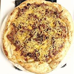BBQ Pulled Pork Pizza recipe