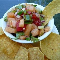 Cucumber Melon Salsa recipe