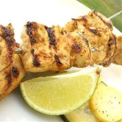 Big M's Barbadian Chicken Skewers recipe