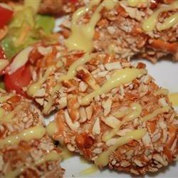 Honey Mustard Chicken with Pretzel Crust recipe