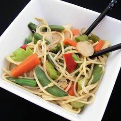 Vegetable Lo Mein Delight recipe