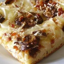 Deep Dish Alfredo Pizza recipe