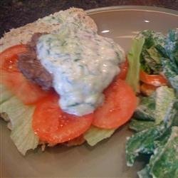 Grilled Gyro Burgers recipe