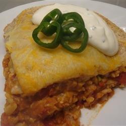 Vegetarian Burrito Casserole recipe