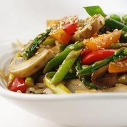 Stir Fried Sesame Vegetables with Rice recipe