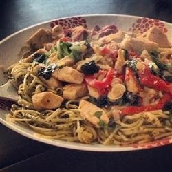 Spence's Pesto Chicken Pasta recipe