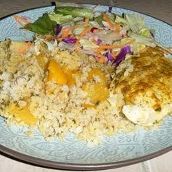 Curried Chicken with Mango Rice recipe