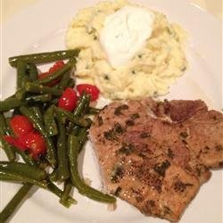 Rosemary and Garlic Simmered Pork Chops recipe