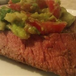 Flank Steak with Avocado Salsa recipe