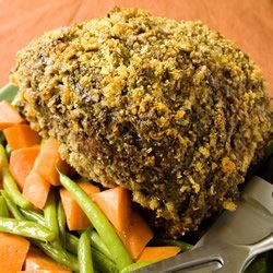 Breaded Rib Roast recipe