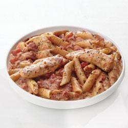 Creamy Parmesan and Sun-Dried Tomato Chicken Penne recipe
