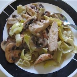 Chicken With Portobello Mushrooms and Artichokes recipe
