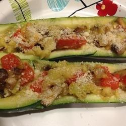 Mushroom Stuffed Zucchini recipe