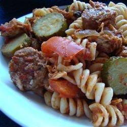 Chicken, Sausage and Zucchini Pasta recipe
