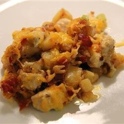 Buffalo Chicken and Roasted Potato Casserole recipe