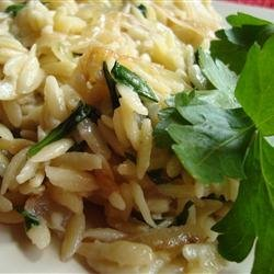 Caramelized Onion and Blue Cheese Orzo recipe