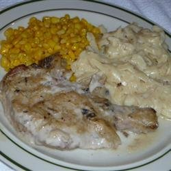 Pork Chops with Mushroom Onion Gravy recipe