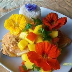 Mahi Mahi with Coconut Rice and Mango Salsa recipe