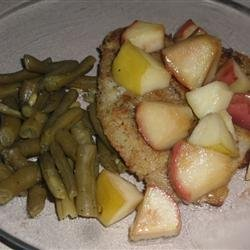 Sea Bass with Honeyed Apples recipe