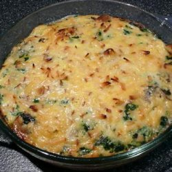 Mushroom and Spinach Frittata With Smoked Gouda recipe
