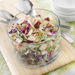 Cabbage, Apple and Almond Slaw recipe