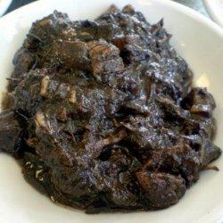 Filipino Chocolate Meat (Dinuguan) recipe