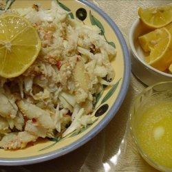 Lemon Garlic Butter Sauce for Crab (or Seafood) recipe