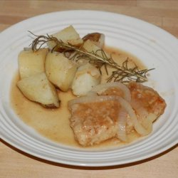 Braised Pork Chops With Onions and Rosemary recipe
