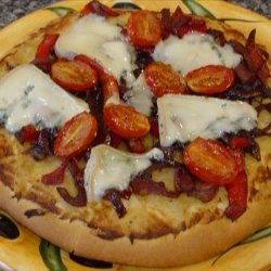 Blue Cheese and Caramelised Onion Pizza recipe