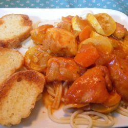 Country Chicken Spaghetti recipe