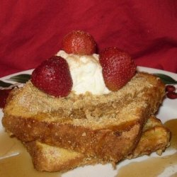 French Toast With a Crunchy Topping recipe