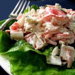Crab-Cucumber Salad in Tomato Cups recipe