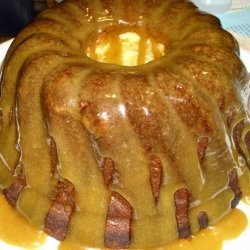Pound Cake With Caramel Icing & Apricot-Ginger Sprinkles recipe